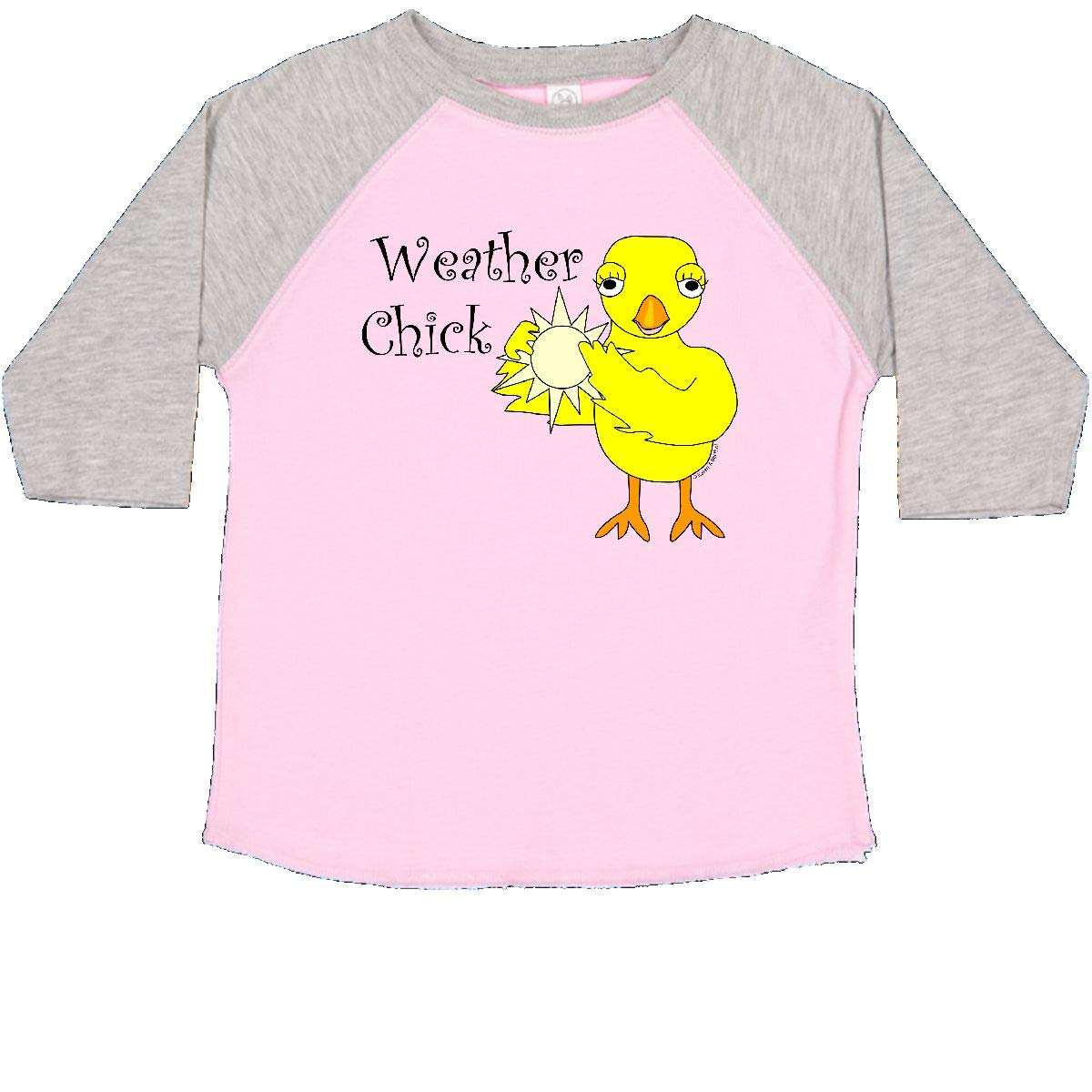 inktastic Sunny Weather Chick Text Toddler T-Shirt