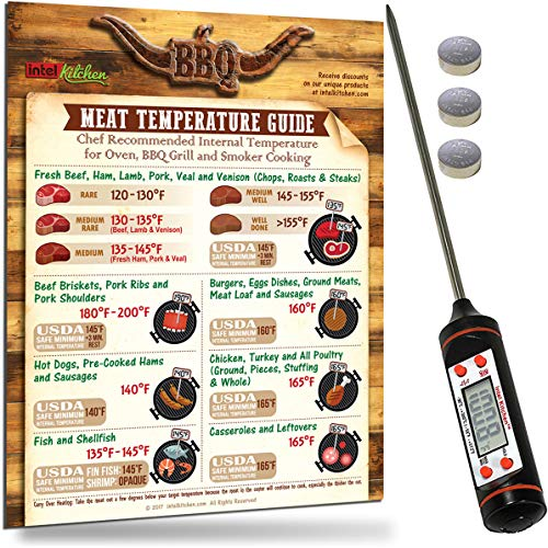 Graphics Intel Storage (Intel Kitchen Useful BBQ Gifts Set: Accurate Digital Food Thermometer BBQ Grilling Meat Temperature Guide Magnets 8.5.