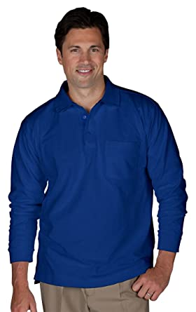 4aecd56f87d Edwards Unisex Long Sleeve Pique Polo With Pockets at Amazon Men s ...