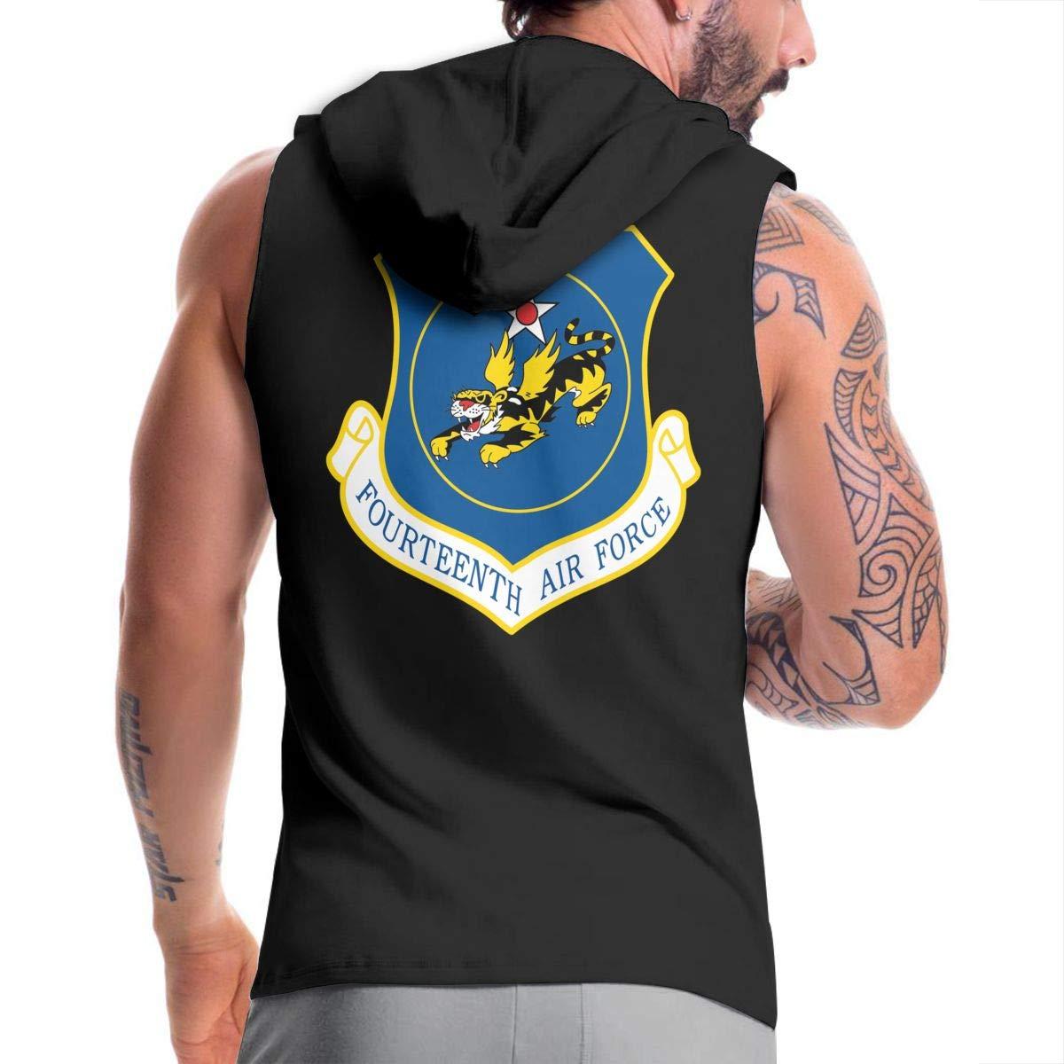 NMBOJR Fourteenth Air Force Mens Hipster Hip Hop Hoodies Shirts