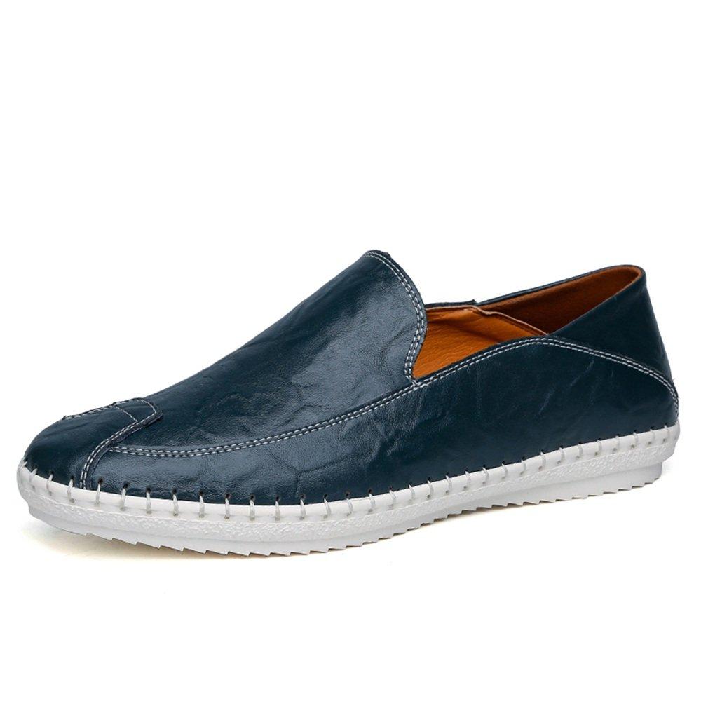 Mocasines Slip-on de hombre de minimalismo de cuero de la PU de color sólido Moda Mocasines de barco de conducción Zapatos casuales , Mocasines para Hombre 2018 ( Color : Azul , tamaño : 38 EU ) -