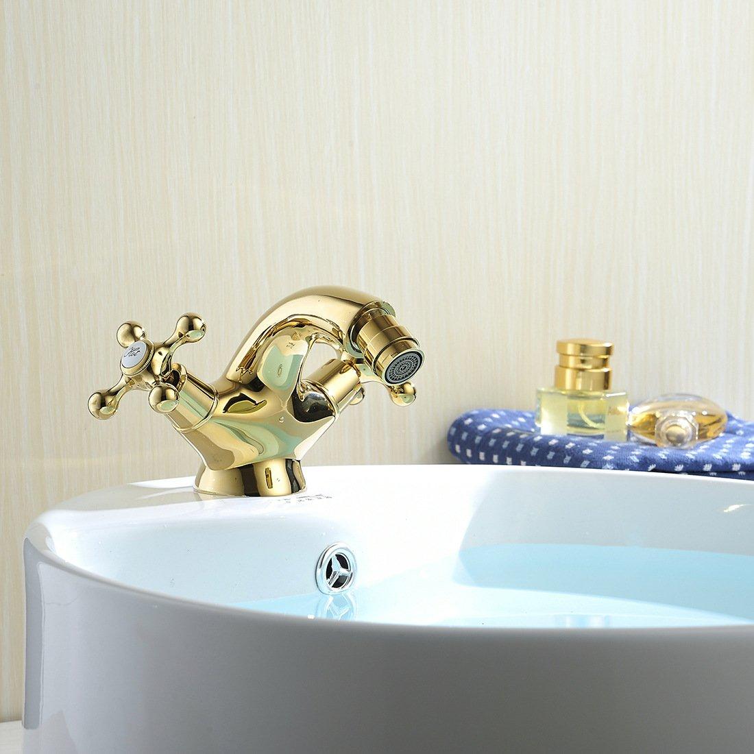 Hlluya Grifo Cocina Lavabo de de de Baño Grifos Lavabo del baño baño de Oro Tap-Tap de Agua. c02d78