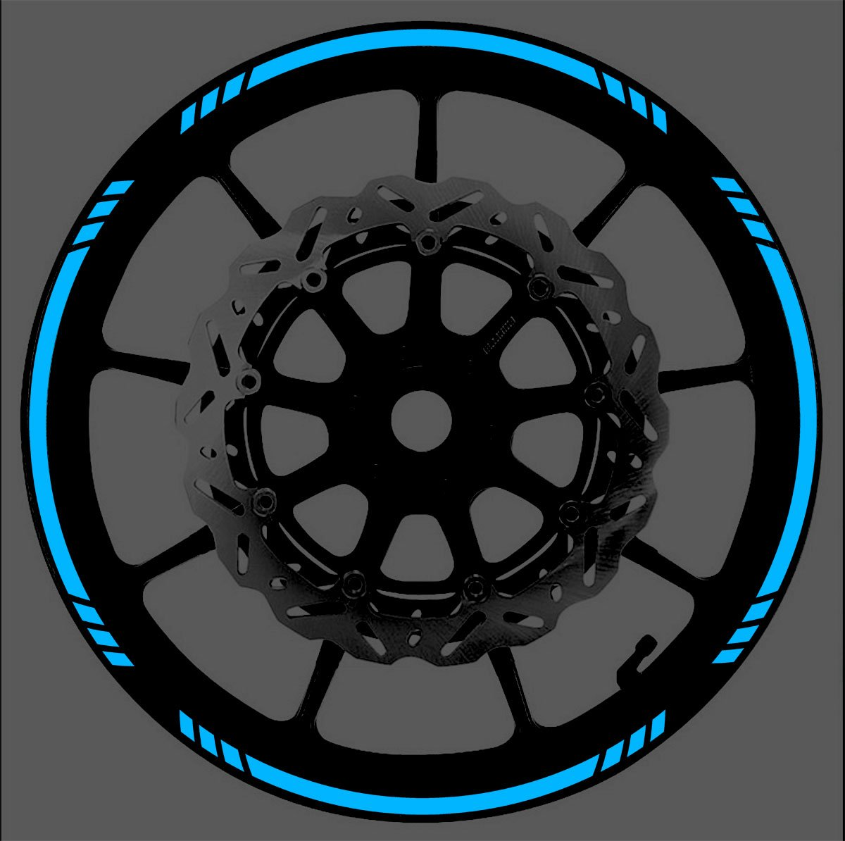 Vehicleartz BLUE Reflective Speed Graduated Wheel Rim Tape Stripe fit Motorcycles, Cars, Trucks