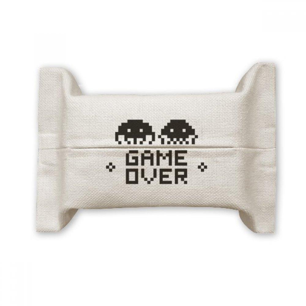 DIYthinker Game Over Little Monster Pixel Cotton Linen Tissue Paper Cover Holder Storage Container Gift