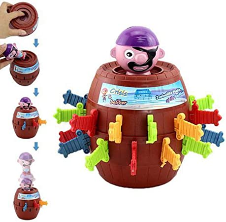 1Pc 3.34 Pop-Up Pirate New Toy Jumping Scare Stimulate Random Game Barrel for Kids Game Toy Christmas Gift,Pirate Funny Barrel Novelty Toy Bucket for Kids and Adults Lucky Stab Toys: Amazon.es: Bricolaje