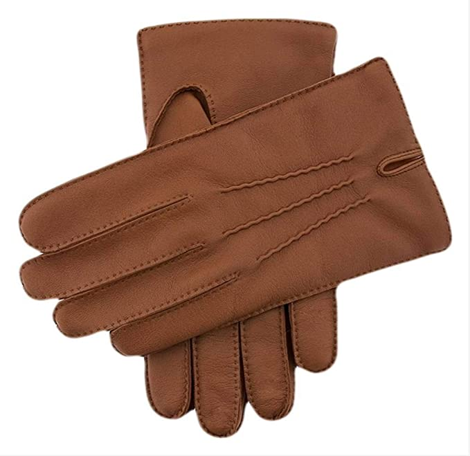Dents Mens Handsewn Cashmere Lined Leather Gloves Brown