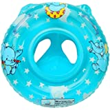 CosCosX Child Inflatable Swimming Toddler Safety Aid Float Seat Ring PINK