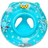 CosCosX Child Inflatable Swimming Toddler Safety Aid Float Seat Ring BLUE