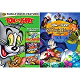 The Movie meet Tom and Jerry Animated Sherlock Holmes DVD Collection / Blast Off to Mars + The Fast and the Furry Feature Bundle 4 Movie Cartoon Set