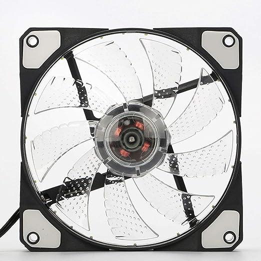 Yaoaomitn 120 mm LED Ventilador para PC Ultra Silencioso para PC ...
