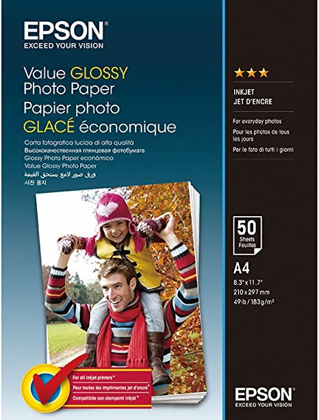 Epson Value Glossy Photo Paper Papel fotográfico, 183 g/m² ...