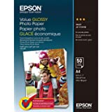 Epson Value Glossy Photo Paper A4 (210×297 mm) Brillo Multicolor - Papel fotográfico (Brillo, 183 g/m², Multicolor, Inyección de tinta, A4 (210×297 mm), 50 hojas)