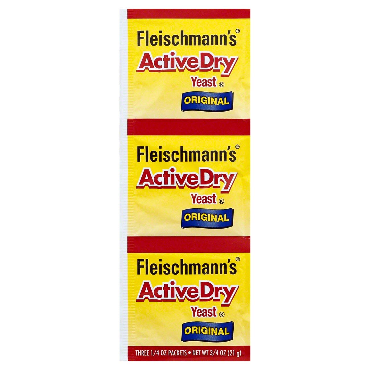 Fleischmann's Yeast, Active, Dry, 0.75-Ounce Packet (Pack of 15)