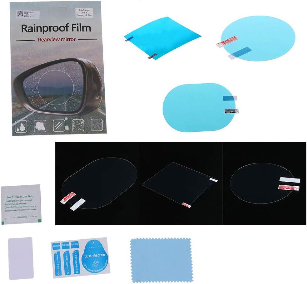 HUY/2 PCS R/étroviseur De Voiture Film De Protection Anti Brouillard Fen/être Clair Antipluie Miroir R/étroviseur De Protection Doux Film C/ôt/é Fen/être Film