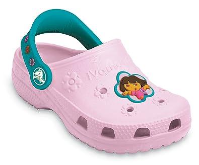 522c58a60ac54a Crocs Chaussures Enfants – Dora Fleurs Unisexe - - Bubblegum Turquoise
