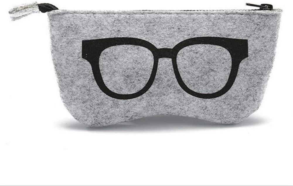 RYHNP Felt Cloth Sunglasses Boxes High Quality Luxury Fabric Glasses Case Eyeglasses Accessories,B