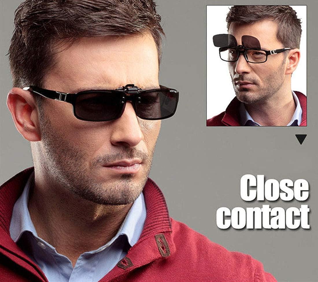2 paia occhiali da sole unisex clip on visione notturna lenti polarizzate anti-riflesso UV400 protezione guida pesca tiro caccia sci sport allaria aperta visione notturna occhiali per uomo donna