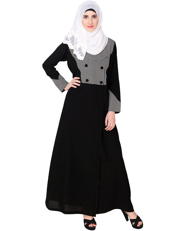 Modest Forever Classic Black Coat Abaya