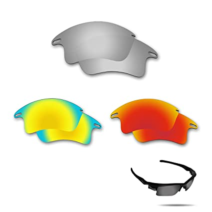 f8ffe392edb Image Unavailable. Image not available for. Color  Fiskr Anti-Saltwater Polarized  Replacement Lenses for Oakley Fast Jacket XL Sunglasses ...
