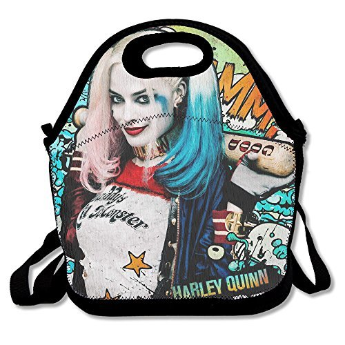 [DSYBTV Lunch Bag Suicide Squad Quinn Lunch Tote Lunch Box For Women Men Kids With Adjustable Strap] (Joker 2016 Costume)
