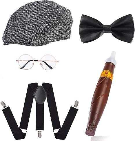 Beelittle 1920s para Hombre Gatsby Gangster Disfraces Accesorios ...