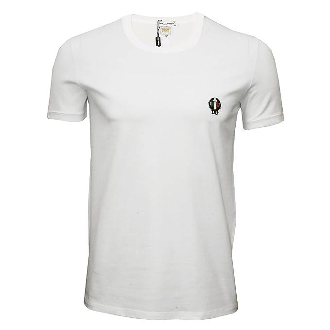 Dolce   Gabbana Underwear Uomo T-shirt Sport Crest girocollo - bianco o nero   Colour  White  a3574ce84b1