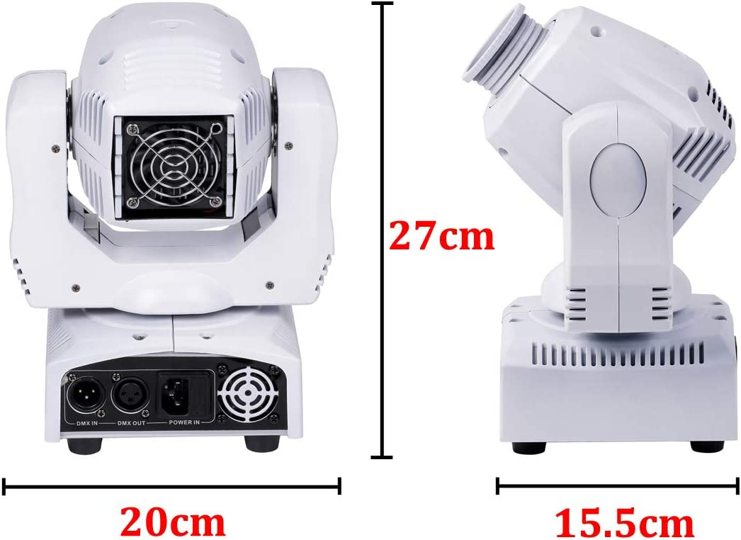 Moving Head Lichteffekt, UKing Updated version white 8 patterns lights 60W LED Stage light with 4 control modes for party DJ disco Bar club show christmas