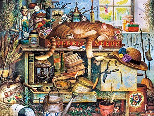 Buffalo Games - The Cats of Charles Wyoscki - Remington The Horticulturist - 750 Piece Jigsaw Puzzle