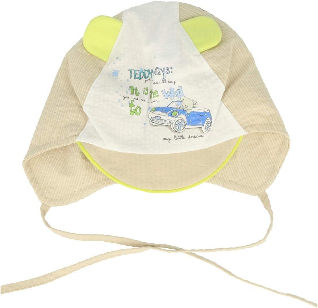 Baby Boy - Gorra de algodón para niños con muelles de verano beige ...