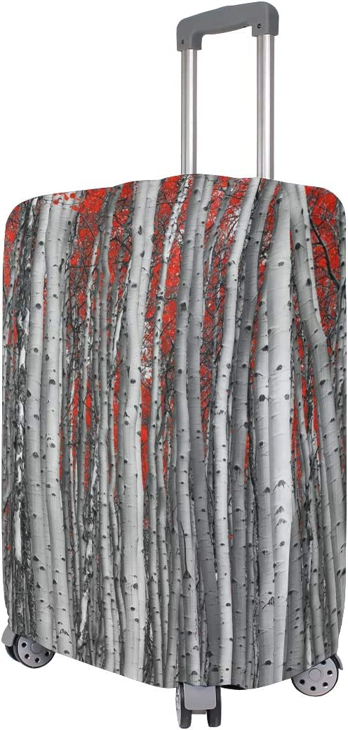 OREZI Luggage Protector,Autumn Forest Tree Leaves Landscape/_409936090 Elastic Travel Luggage Suitcase Cover,Washable and Durable Anti-Scratch Case Protective Cover for 18-32 Inches