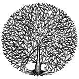 Global Crafts Handmade Fine Spirit Tree Of Life Metal Wall Art Haiti