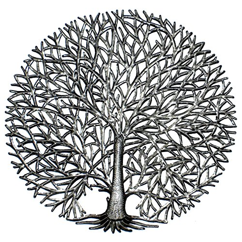 Global Crafts Handmade Fine Spirit Tree Of Life Metal Wall Art Haiti by Global Crafts