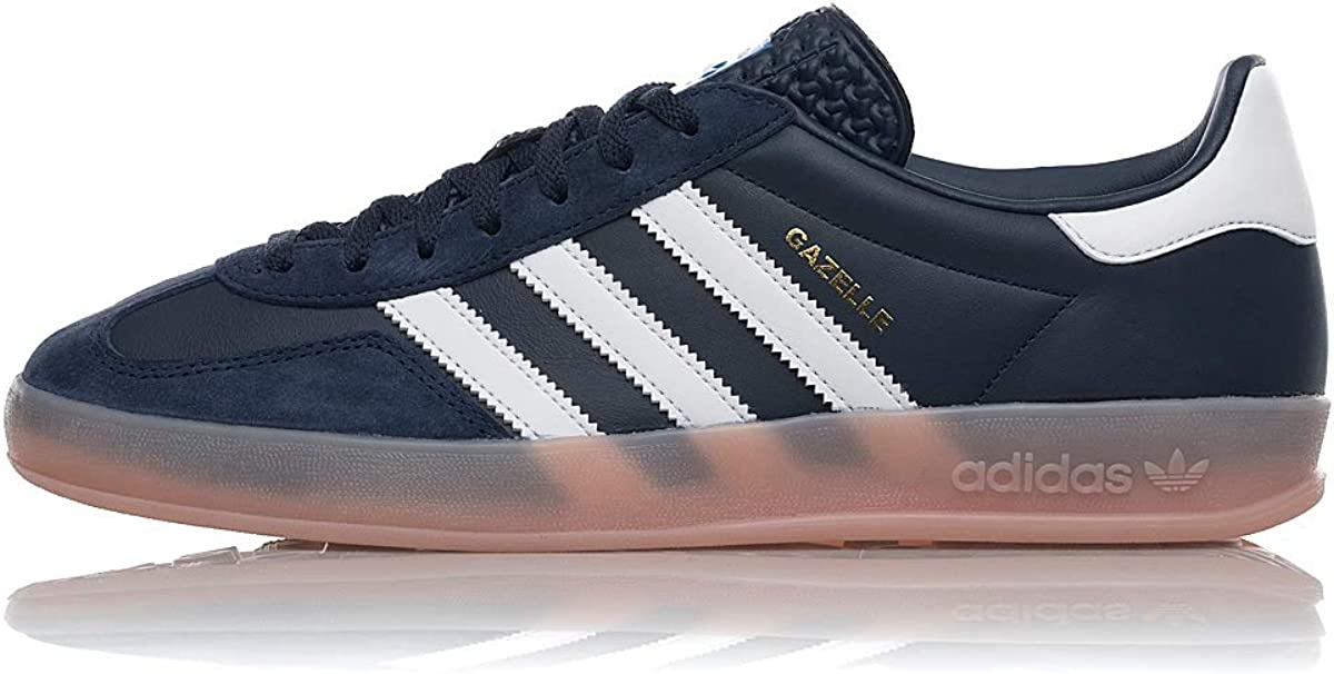 adidas Originals Gazelle Indoor, Collegiate Navy-Footwear White-Vapour Pink