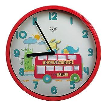 "Amazon.com : 7"" Children SILENT Wall Clocks for Kids Room - QUIET ..."