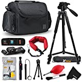 "Premium Well Padded Camera CASE / BAG and Full Size 60"" inch TRIPOD Accessories KIT for Canon EOS Rebel T6i T6S T5i T5 T4i T3i T3 T2i SL1 EOS 70D 60D 7D 6D 5D 5DS, 5DS R, 7D Mark II 8000D 760D 750D 700D 650D 600D 550D 1200D 1100D 100D EOS M, EOS M3, EOS M2, T1i XTi XT SL1 XSi 5D Mark II, 5D Mark III, 5DS R, 5DS DSLR Cameras"