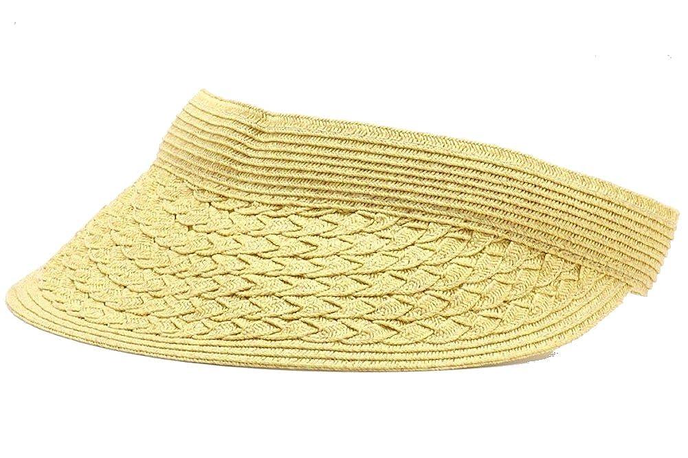Dorfman Pacific Women's Packable Roll Sun Visor Hat Black One Size Scala Women's Accessories LP54