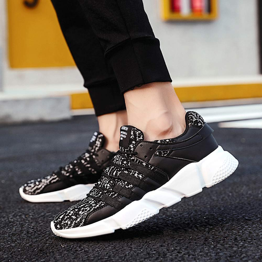 Casual Men/'s Lace-Up Sport Running Shoes Wear Resistant Mesh Breathable Sneaker Pandaie-Mens Shoes