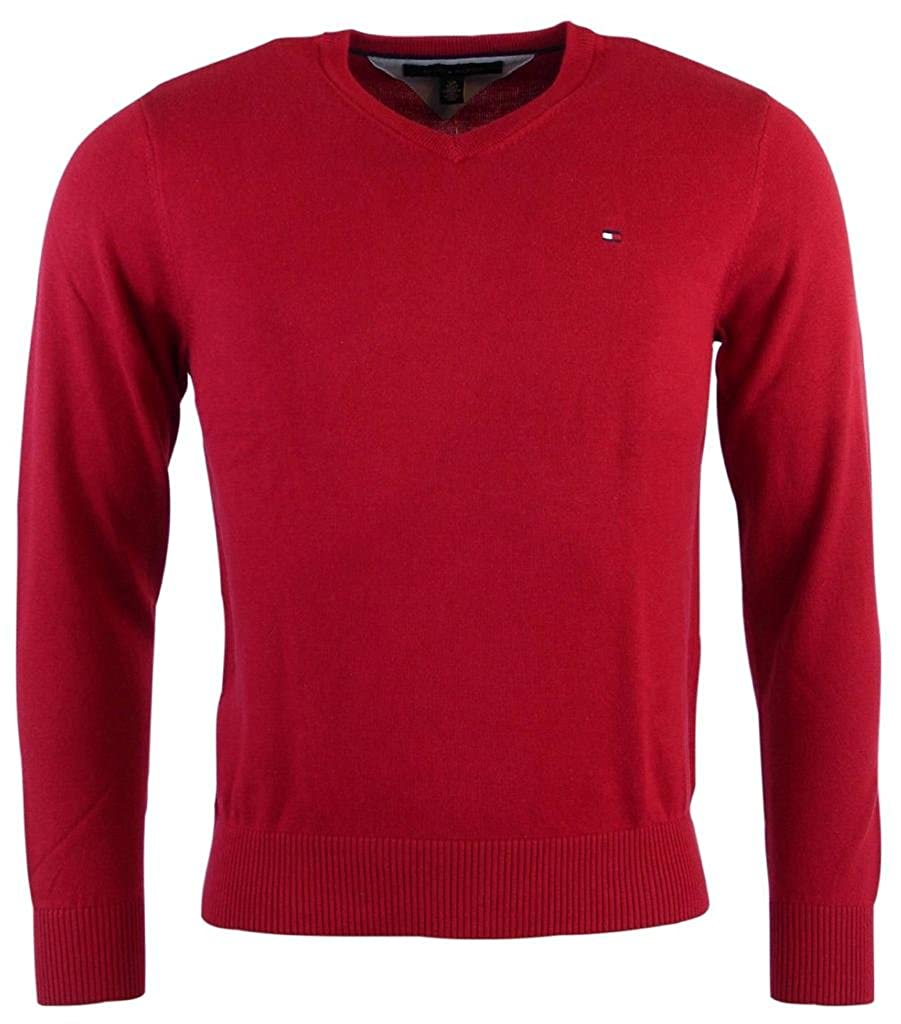 Tommy Hilfiger Men's V-Neck Long Sleeve Pacific Pullover Sweater ...
