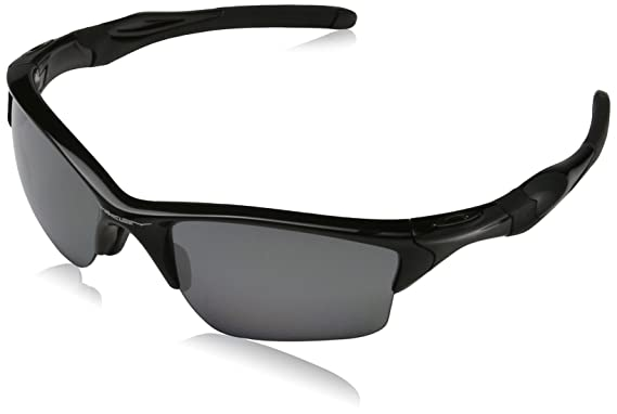 mens oakleys jtld  Oakley Mens Half Jacket 20 XL OO9154-05 Polarized Sunglasses,Polished  Black Frame/