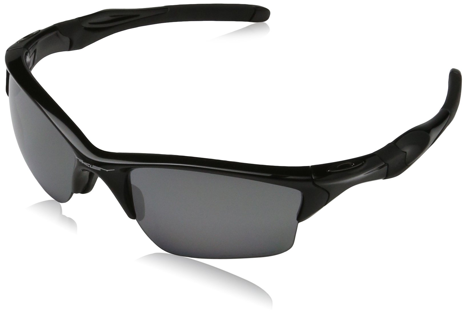 Oakley Mens Half Jacket 2.0 XL OO9154-05 Polarized Sunglasses 58mm, Polished Black Frame/Black Iridium Polarized Lens, 62 mm