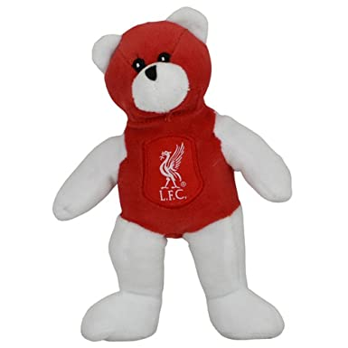 Liverpool FC Soft Mini Beanie Teddy Bear Red White Liver Bird LFC Gift Official: Amazon.es: Ropa y accesorios