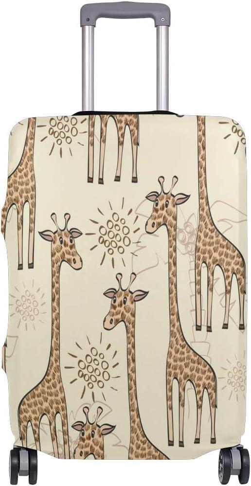 FANTAZIO Cartoon Giraffe Suitcase Protective Cover Luggage Cover