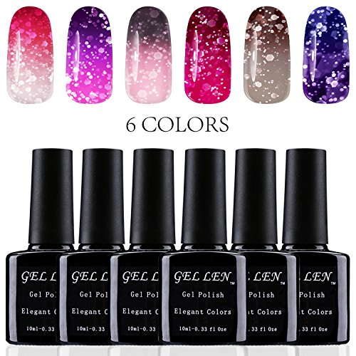 Gellen Sparkle Temperature Color Changing Chameleon UV Gel N