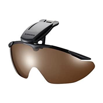 83aeb59470 Shimano HG-002N Polarised Fishing Sunglasses Clip on Cap Amber 413246  (3246)  Amazon.co.uk  Sports   Outdoors