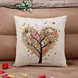 Decorative Pillow Cover - Pillow Case, Gotd Flowers Throw Pillow Case Covers Decorative Cushion Cover For Sofa Home Decor (Beige)