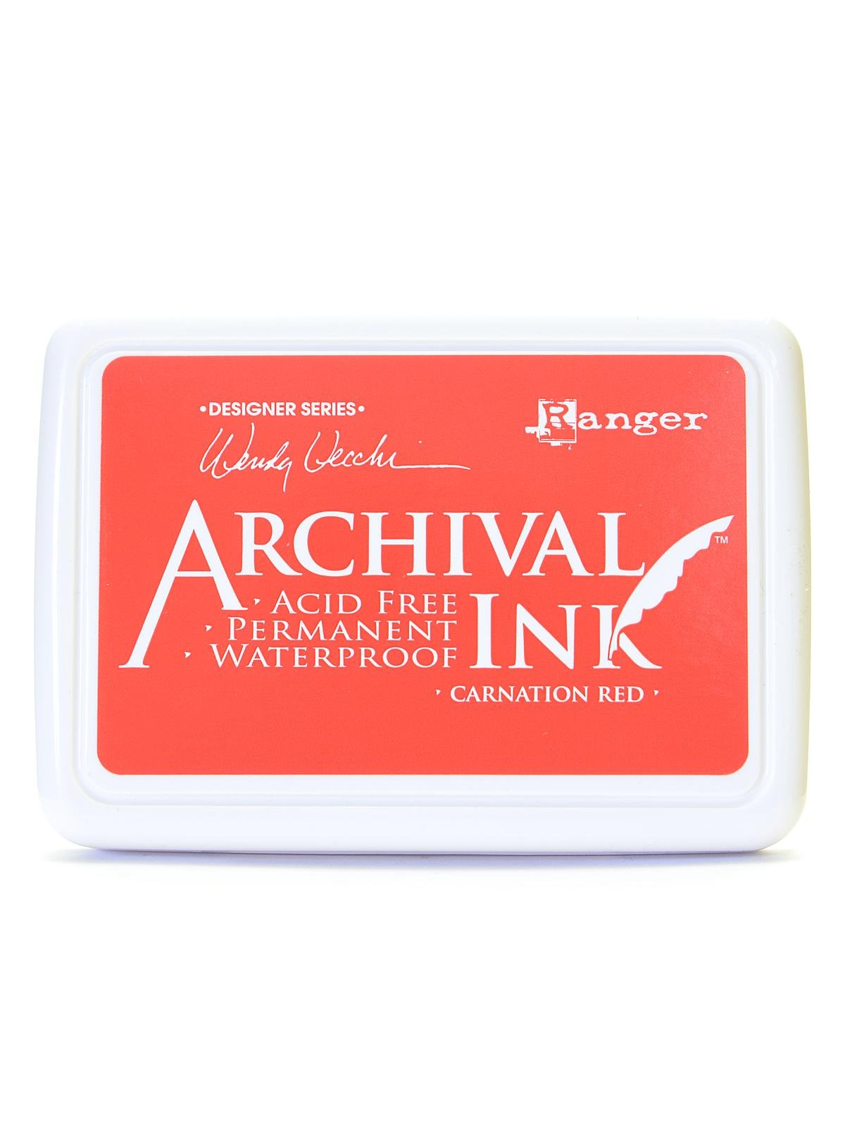 Ranger Archival Ink Wendy Vecchi Designer Series carnation red 2 1/2 in. x 3 3/4 in. pad [PACK OF 3 ]