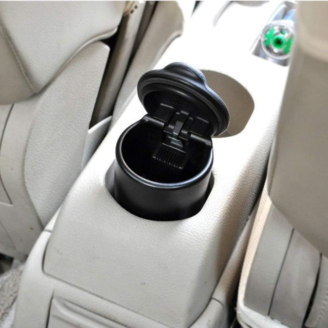Swiftswan Auto-Aschenbecher 4s Shop Aschenbecher Hersteller von schwer entflammbaren Aschenbecher Tragbar Einfache Auto Aschenbecher mit Licht