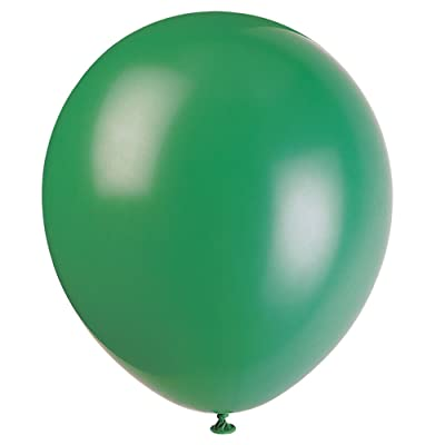 """Unique Industries, 12"""" Latex Balloons, DIY Party Decoration - Pack of 72, Forest Green: Kitchen & Dining"""