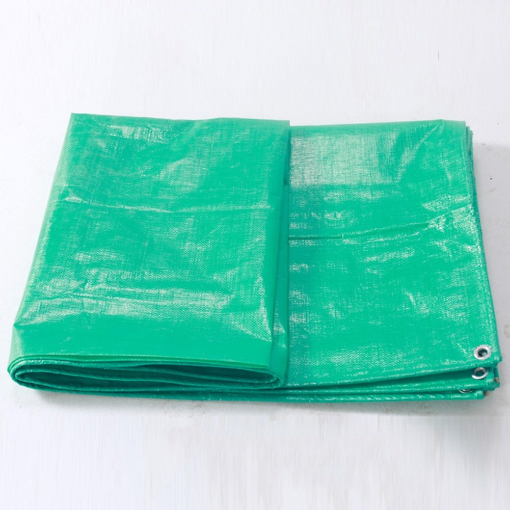 GREEN 2 x 4m Outdoor Tarpaulin Outdoor Waterproof Picnic mat DoubleSided MoistureProof Cargo dustproof Cloth high Temperature AntiAging