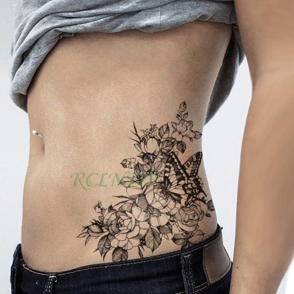 ljmljm 4 Piezas Etiqueta engomada del Tatuaje Impermeable Cruz ...